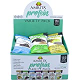 Paleo HIGH PROTEIN Variety Pack with 7 Flavors - No Added Sugar Zero Sweeteners, Gluten Soy and Dairy-Free, Non-GMO Certified - Vegan, Raw and Kosher - Pack of 12 bars by Amrita