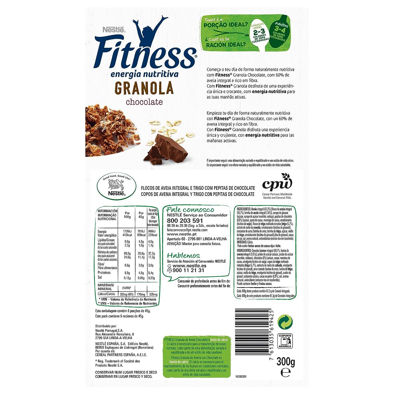 Fitness Cereales Granola Copos De Avena, Pepitas De Chocolate Y Trigo Malteado - 300 gr: Amazon.es: Amazon Pantry