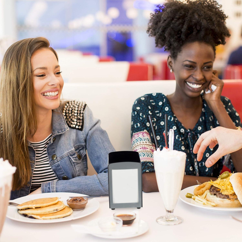 Vintage R/étro Restaurant Support Porte Serviette HxlxP 15x9,5x11 cm Relaxdays 10025508/_55 Distributeur Table Argent