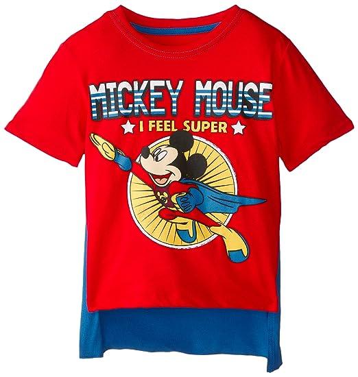 ed087dbbe93 Amazon.com  Disney Boys  Mickey Mouse Super Short Sleeve Cape T-Shirt   Clothing