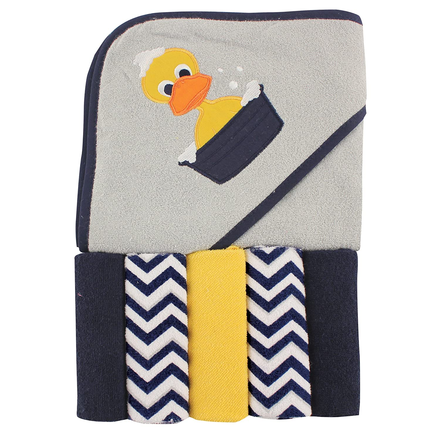 Luvable Friends Hooded Towel and 5 Washcloths, Duck by Luvable Friends   B00X21NHZY