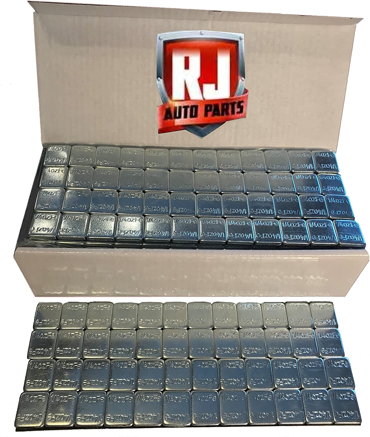 18 lbs Stick-on Adhesive Tape 288 Pieces 2 Boxes Wheel Weights Black 1 oz Lead Free,