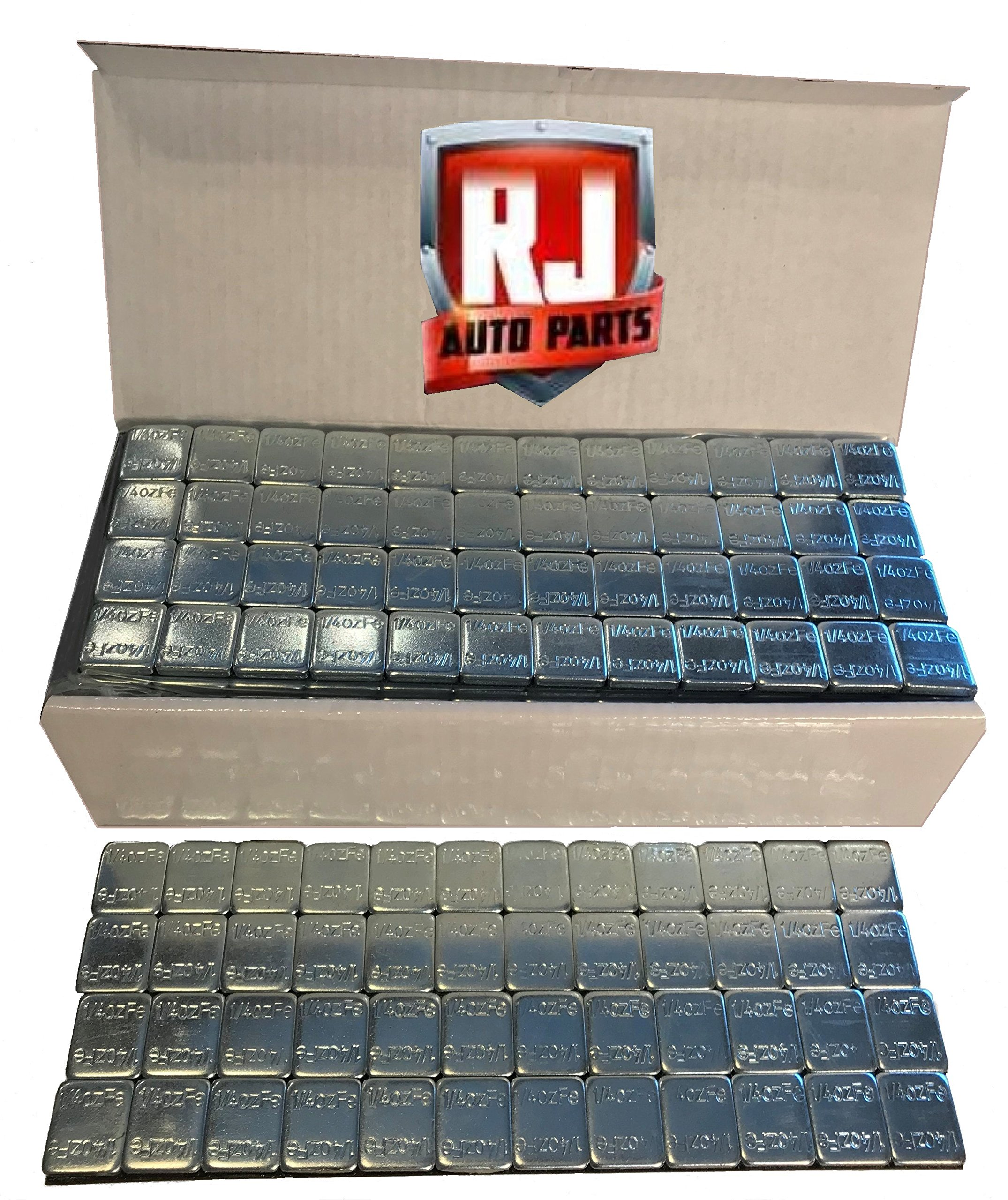 6 Boxes Wheel Weights Zinc Plated .25 oz. Stick-on Adhesive Tape (54 lbs) 3456 Pieces by RJ Auto Parts