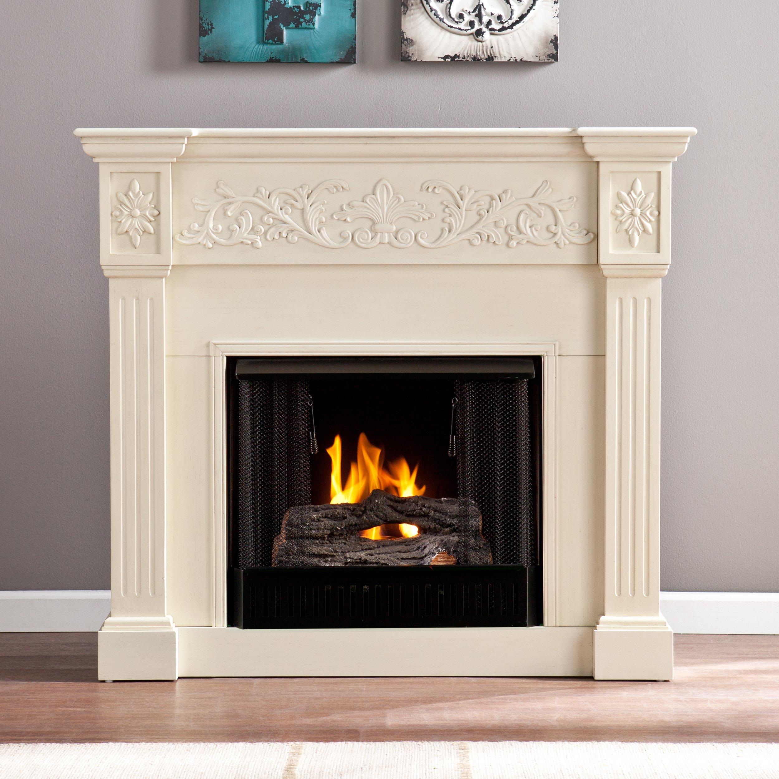 Southern Enterprises Sei Calvert Gel Fuel Fireplace Ivory Buy