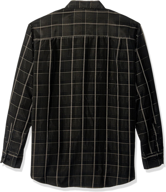 Haggar Mens Long Sleeve Microfiber Woven Shirt