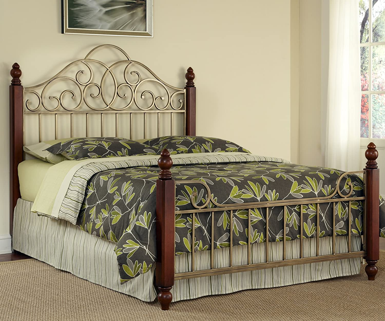 Amazon.com: Home Styles St. Ives Queen Bed: Kitchen & Dining