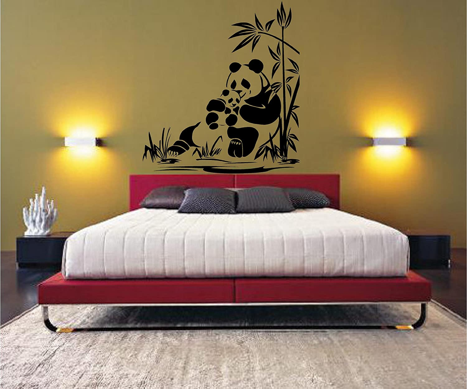 amazon com panda wall decal sticker home decor 32 amazon com panda wall decal sticker home decor 32
