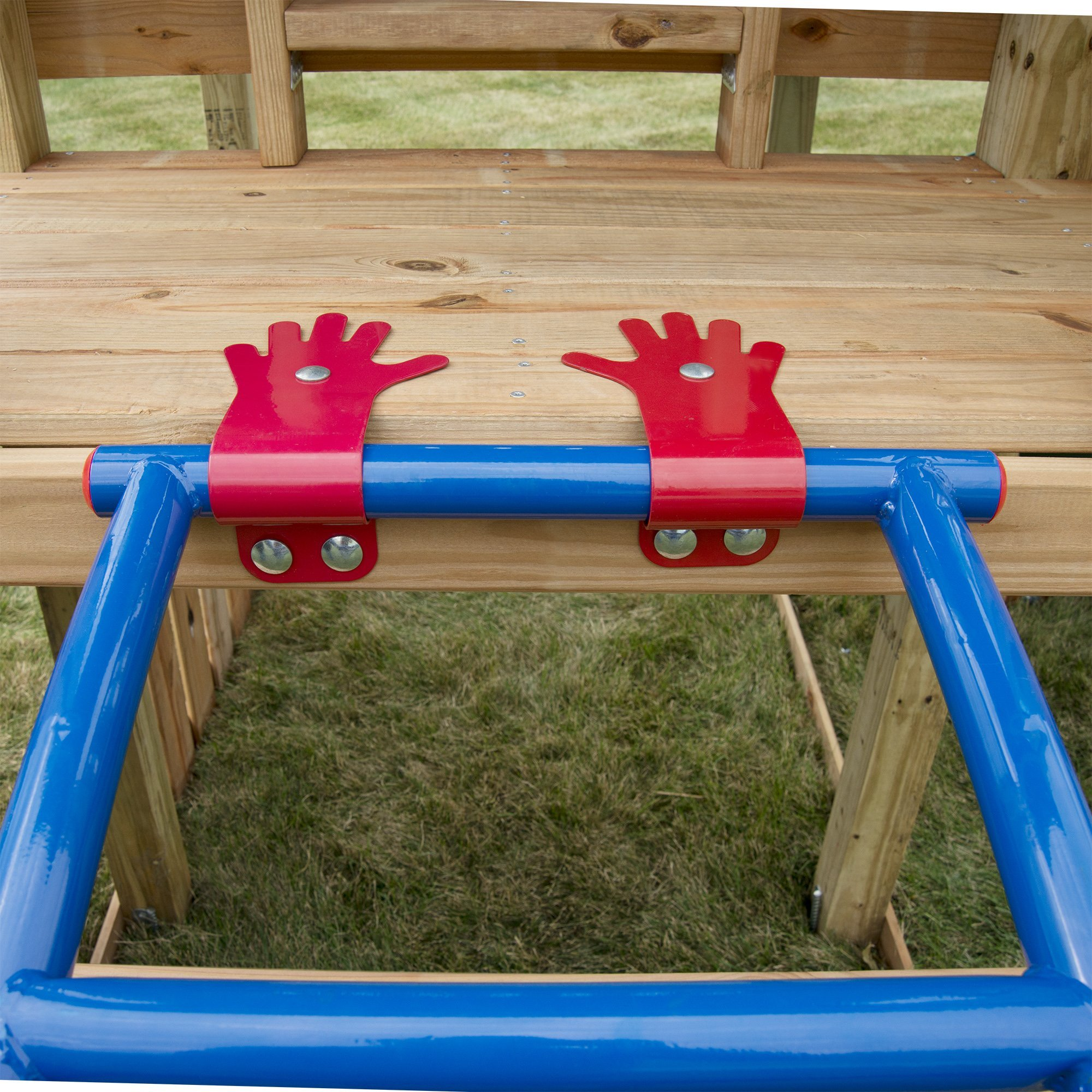 Swing-N-Slide NE 5040 Metal Arch Ladder with Multiple Configurations for Swing Sets, Play Sets & Playhouses, Blue & Red by Swing-N-Slide (Image #6)