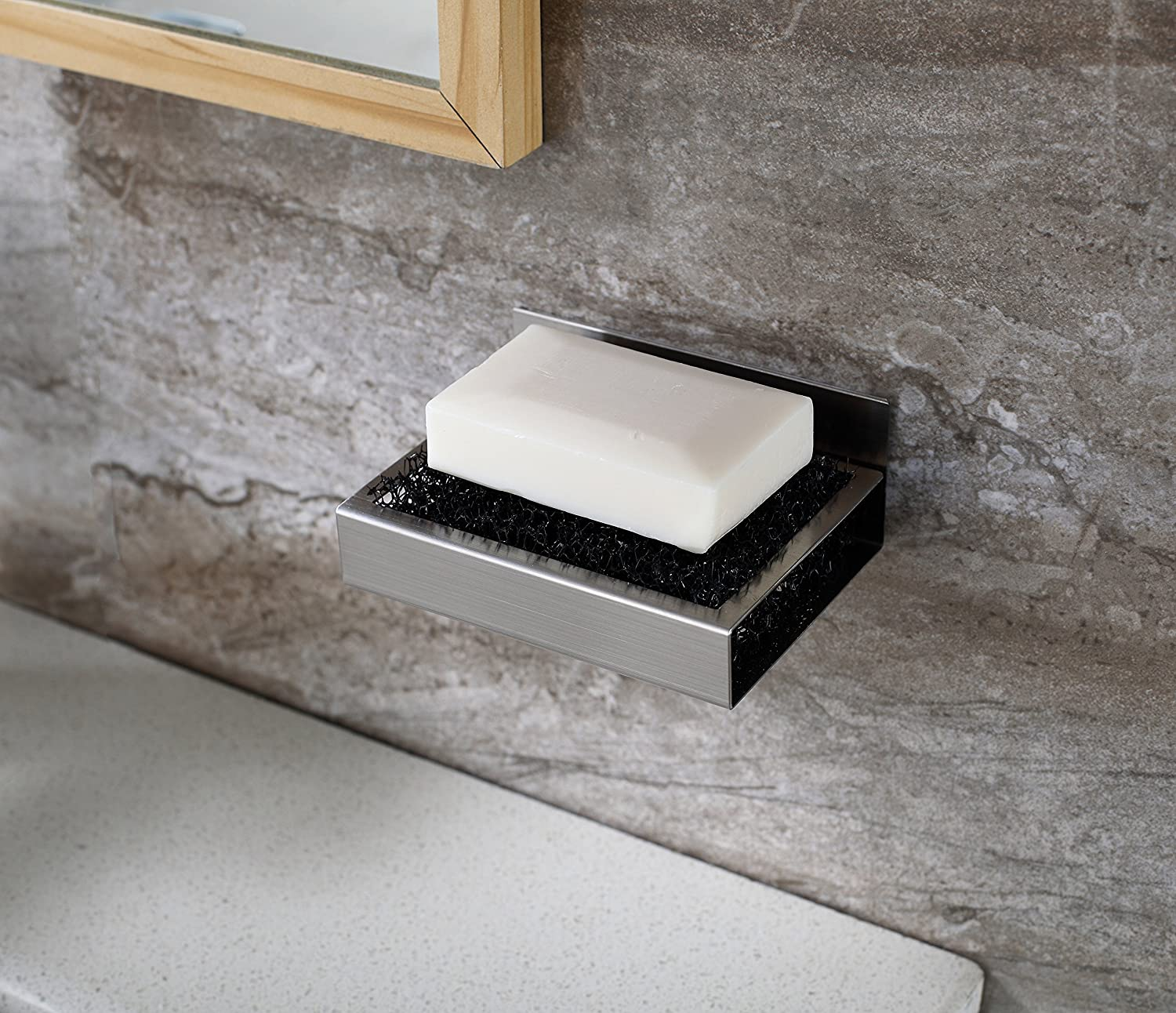 Bathroom Soap Dish Holder Dispensers Wall Mount Self Adhesive Stainless Steel Ebay