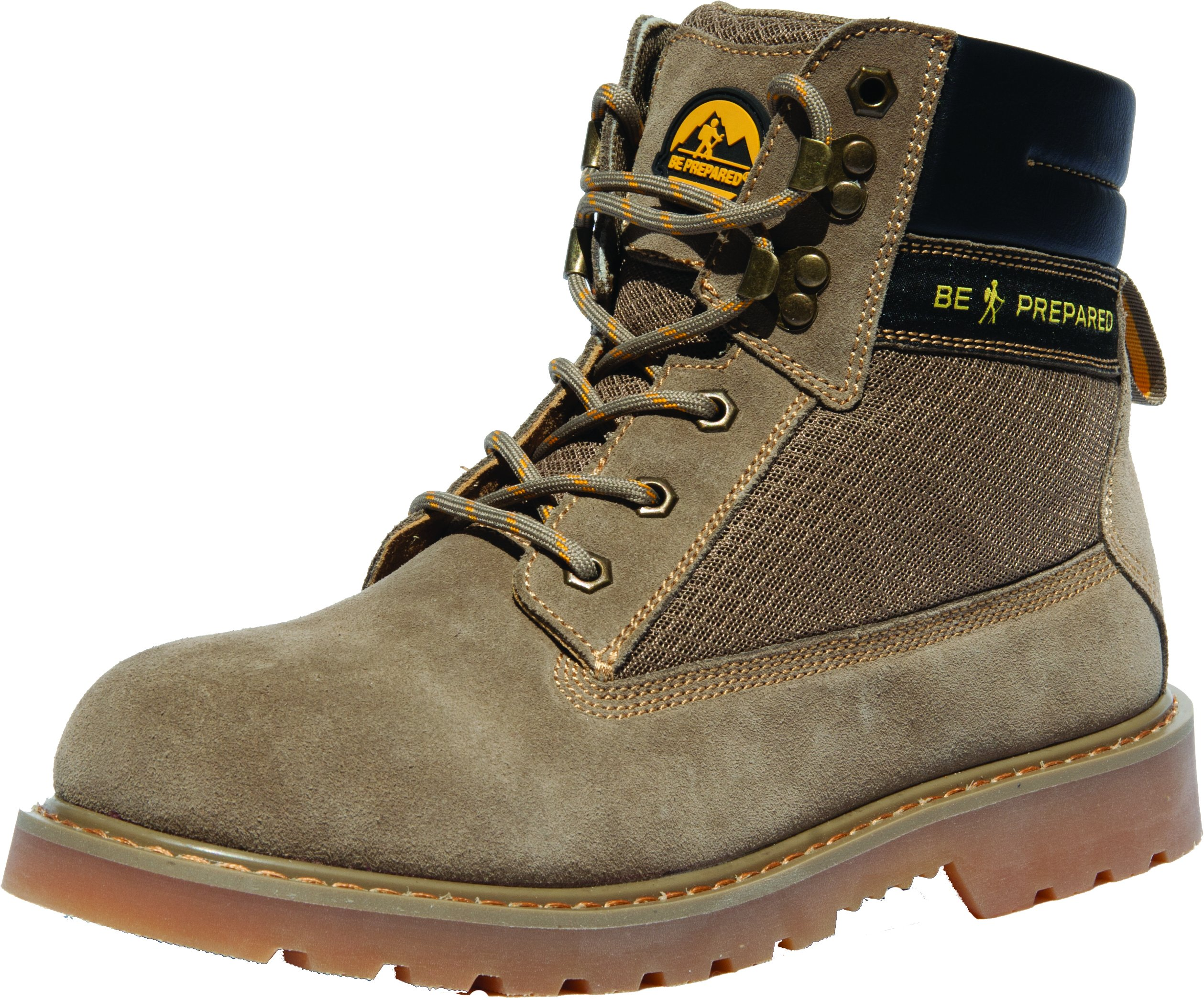 Official Boy Scouts of America Outdoor Hiking Boots/Shoes Scout Pro Suede (10) Tan by Be Prepared