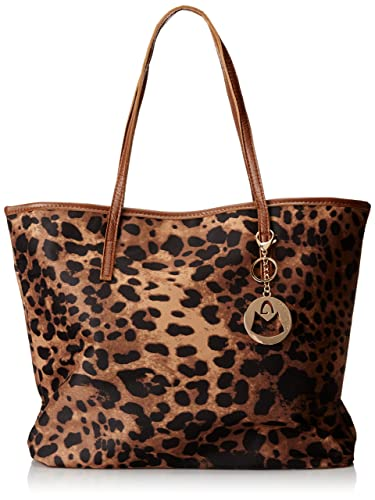 MG Collection Gil Leopard Oversized Bucket Shopper Shoulder Bag ...