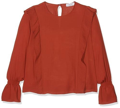 Elvi Frill Detailed Blouse, Blusa Para Mujer