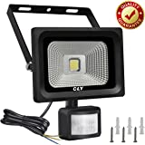 Security Lights with Motion Sensor,CLY 10W LED Floodlight 1000Lumen IP66 Waterproof Super Bright Outdoor Sensor Flood Lights for Garden, Backyard, Garage, Doorways, Daylight White