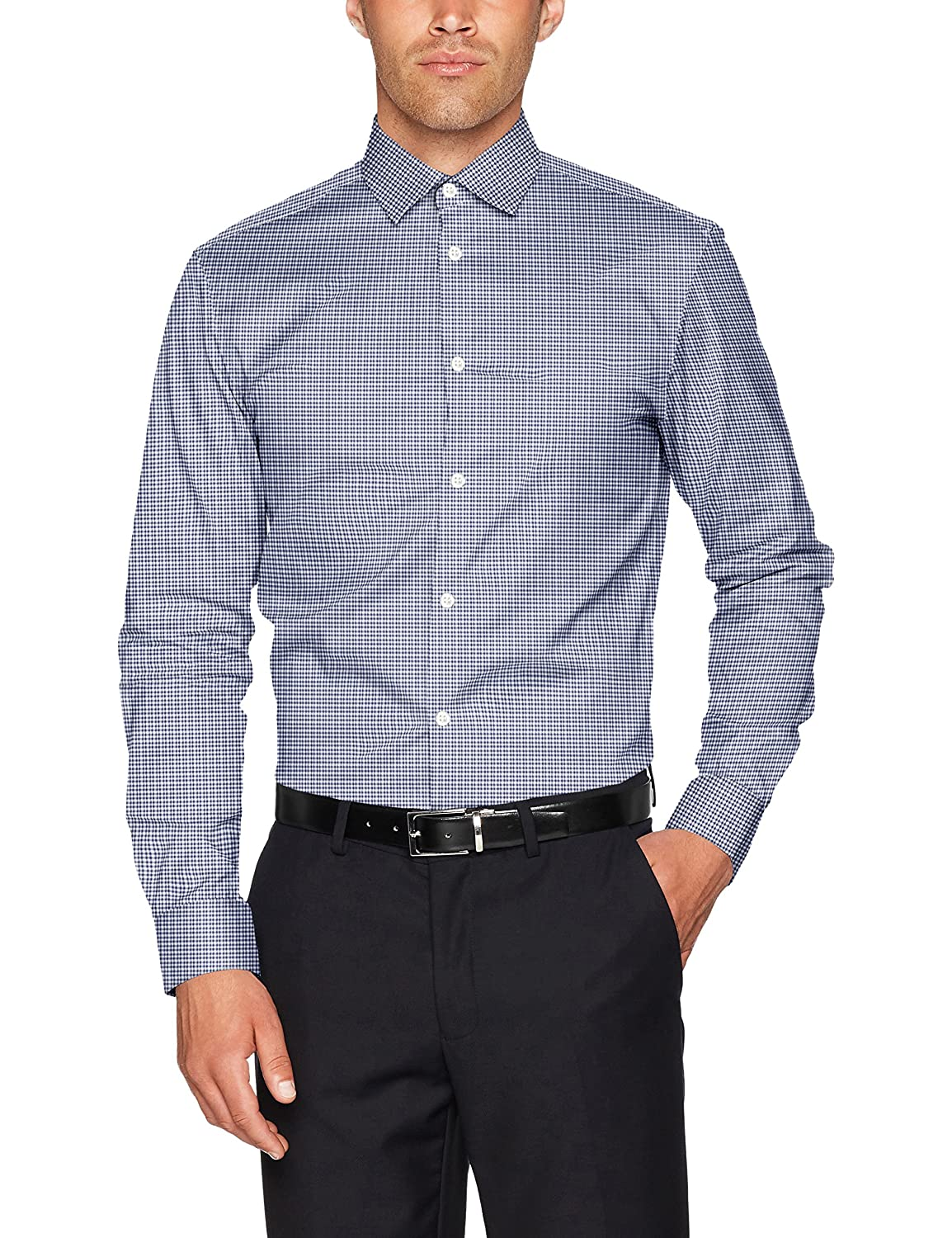 SELECTED HOMME Shdonenew-Mark Shirt LS Noos, Camicia Formale Uomo 16058640