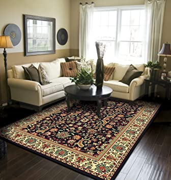 Traditional Area Rugs For Living Room 8x10 Persian All Over Tabriz Pattern Rug