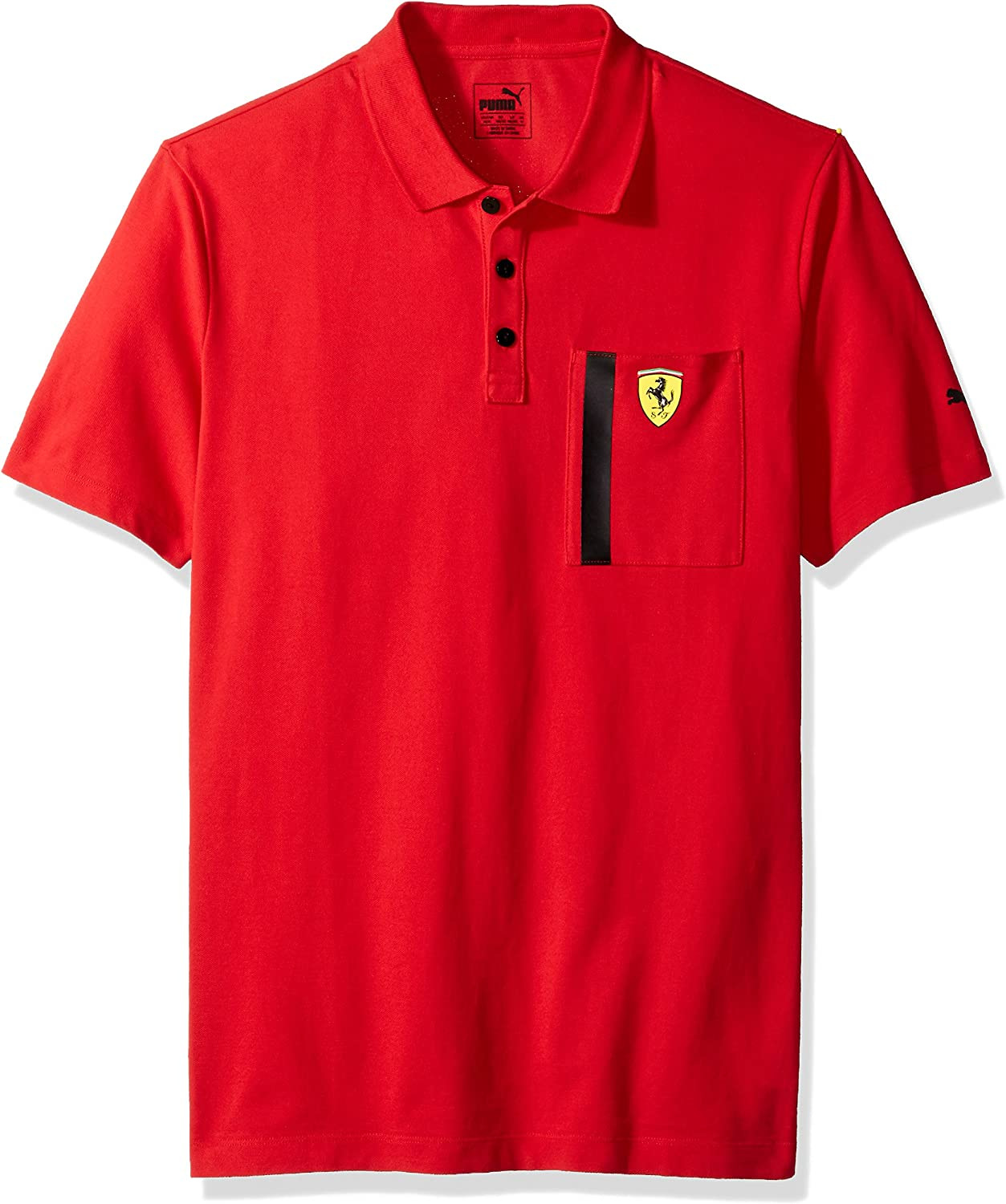 PUMA Mens Scuderia Ferrari Polo, Red, S: Amazon.es: Ropa y accesorios