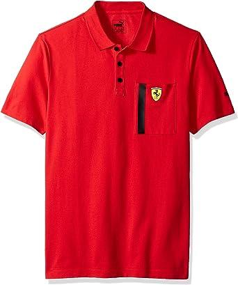 PUMA Mens Scuderia Ferrari Polo, Red, S: Amazon.es: Ropa y accesorios
