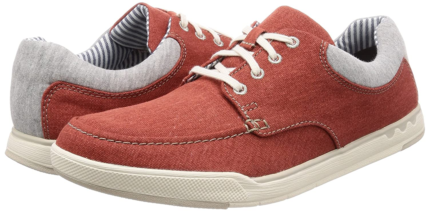 Clarks Herren Step Isle Canvas) Lace Derbys Rot (Rust Canvas) Isle 358fd1