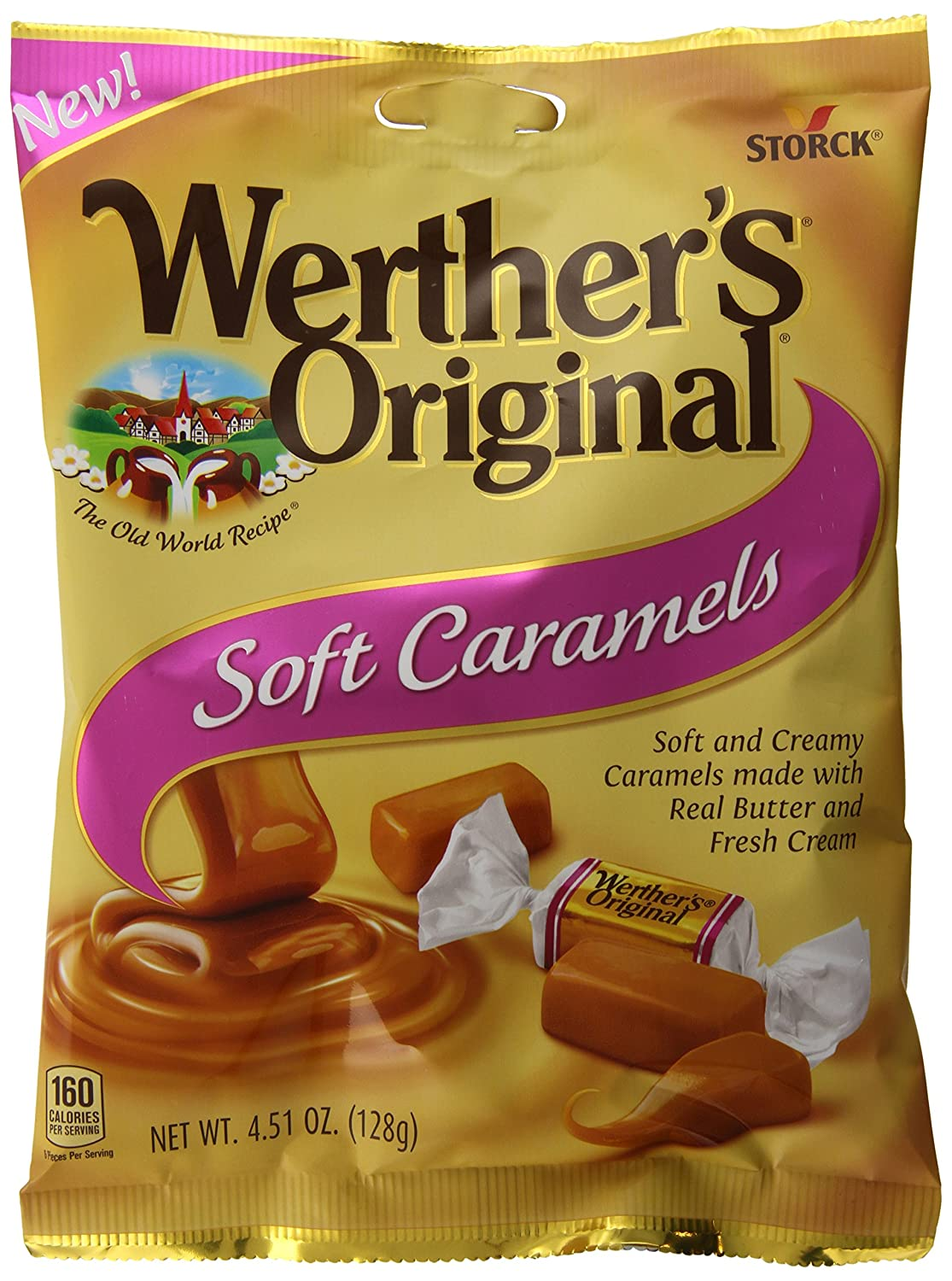 amazon com werther s original soft caramels individually wrapped