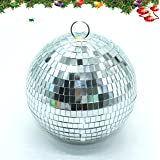 "6"" Mirror Disco Ball By IDS,Silver"