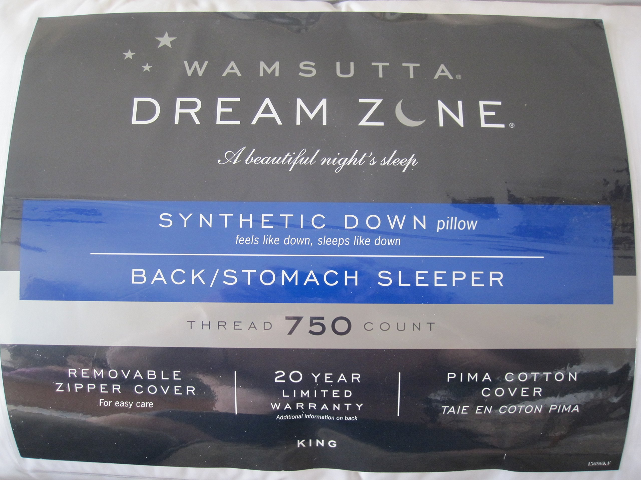 Wamsutta Dream Zone Synthetic Down Back/Stomach Sleeper 750-Thread Count (King)