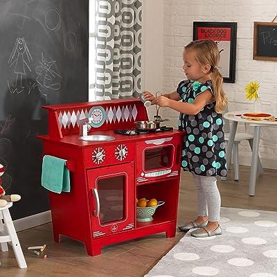 KidKraft Kids Kitchen Playset, Red: Toys & Games