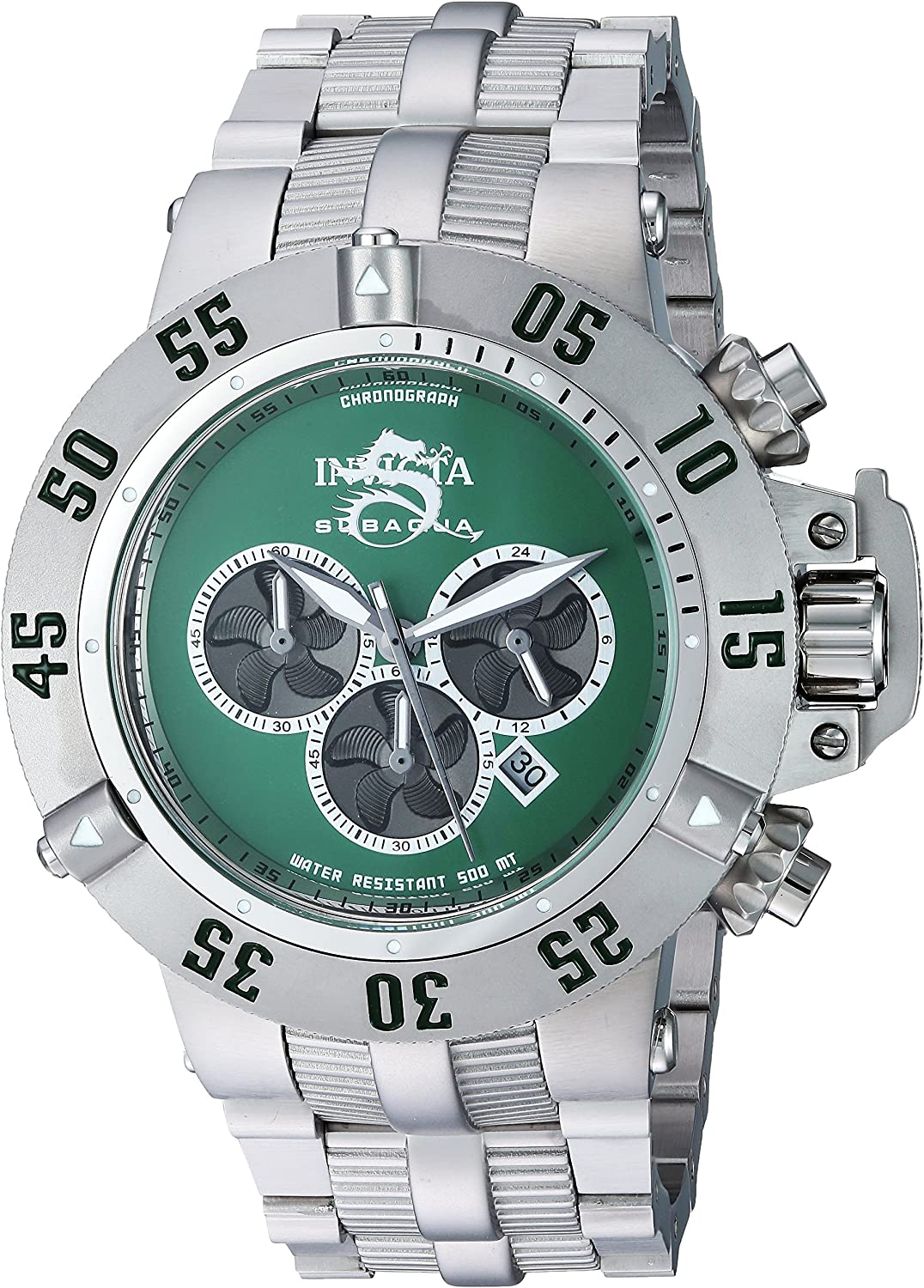 Invicta Men's Subaqua Quartz Watch with Stainless-Steel Strap, Silver, 27 (Model: 24449) 91syKimQVOLUL1500_