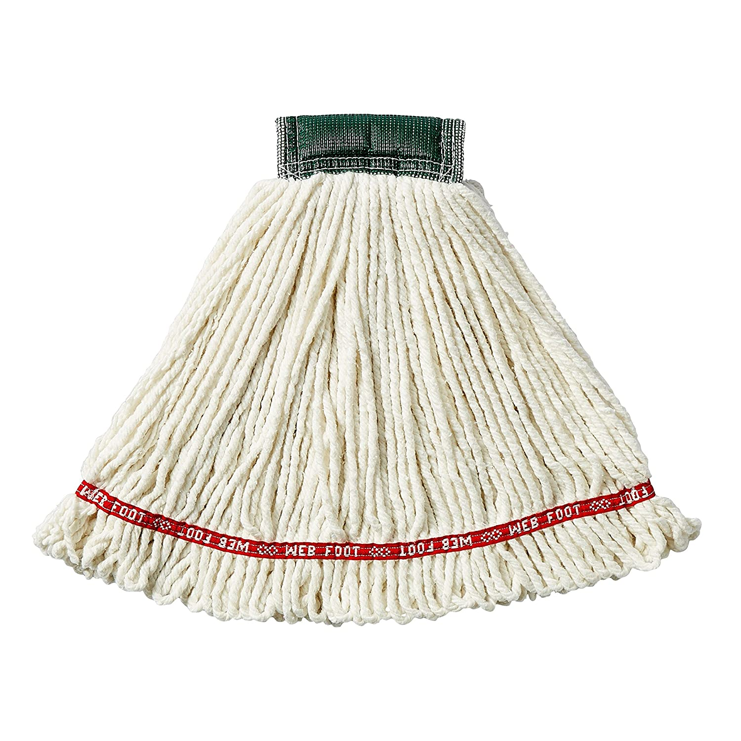 1-inch Size Green Rubbermaid Commercial FGA81306GR00 Web Foot Microfiber String Mop