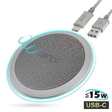 pengo Chargeur sans Fil 15W Qi Chargeur à Induction USB C