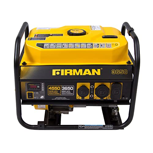 Firman P03601 4550 3650 Watt Recoil Start Gas Portable Generator cETL Certified, Black