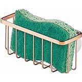 InterDesign Gia Suction Kitchen Sink Caddy, Sponge Holder for Kitchen Accessories - Copper