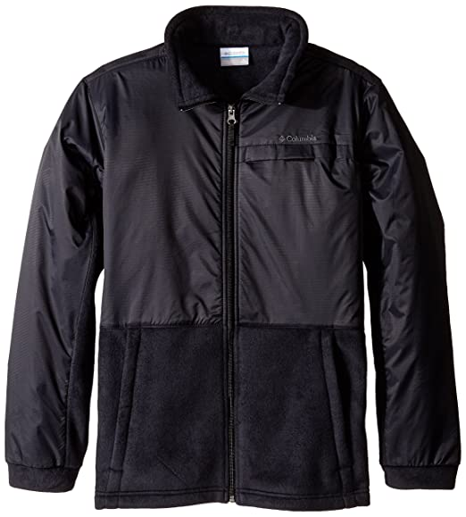 Columbia Big Boys' Steens Mt Overlay Jacket, Black, Medium