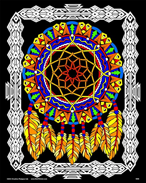 Amazon.com: Dream Catcher - Fuzzy Velvet Coloring Poster For Kids,  Toddlers, And Adults - Arrives Uncolored - Great Indoor Coloring Project Or  Quiet Time Activity: Posters & Prints