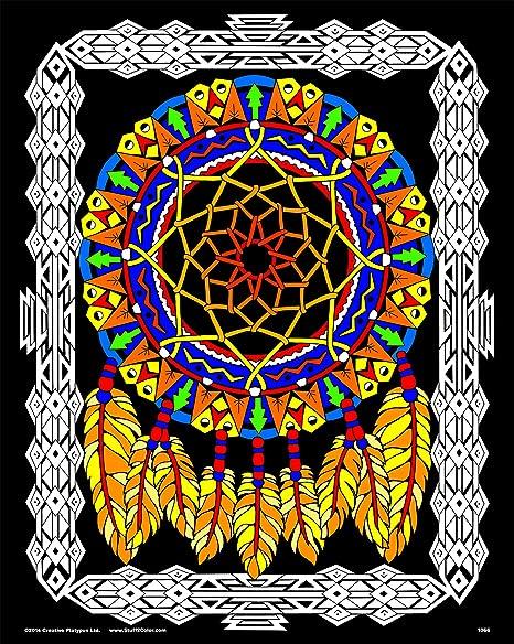 16x20 Fuzzy Velvet Coloring Poster Stuff2Color Dream Catcher