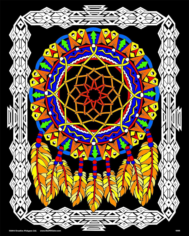 Amazon.com: Dream Catcher - 16x20 Fuzzy Velvet Coloring Poster ...