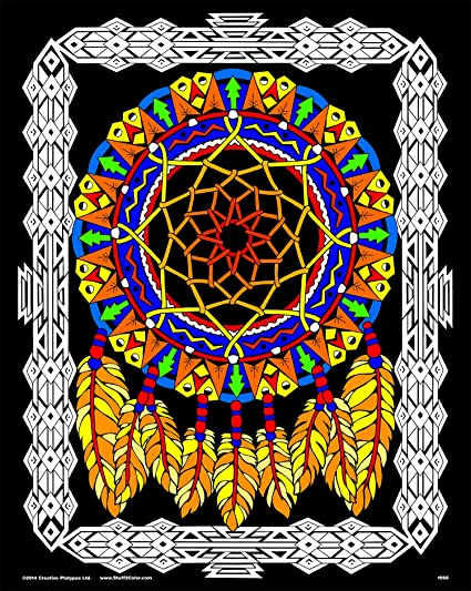 Amazon.com: Dream Catcher - 16x20 Fuzzy Velvet Coloring Poster: Toys ...