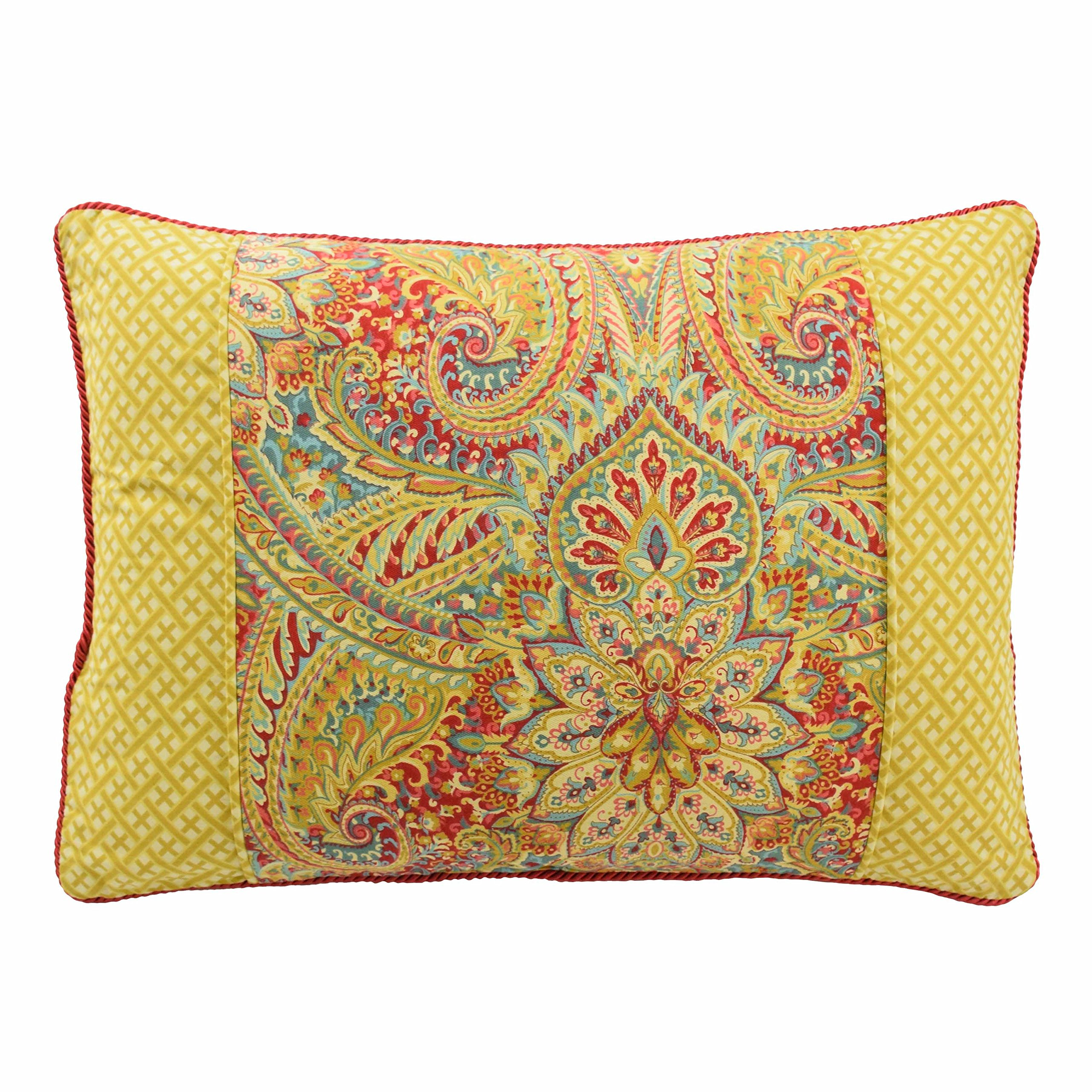 WAVERLY Swept Away Decorative Pillow, 14''x20'', Berry