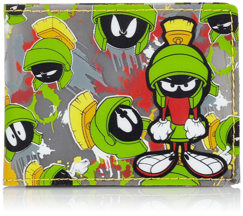 Meroncourt Looney Tunes Marvin The Martian Bi-Fold Wallet, Dark Grey BIO-MW0BDDLNT