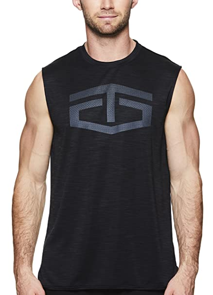 2df4a33948184 TapouT Men s Muscle Tank Top - Sleeveless Workout   Training Activewear  Shirt - Black Heather Battle