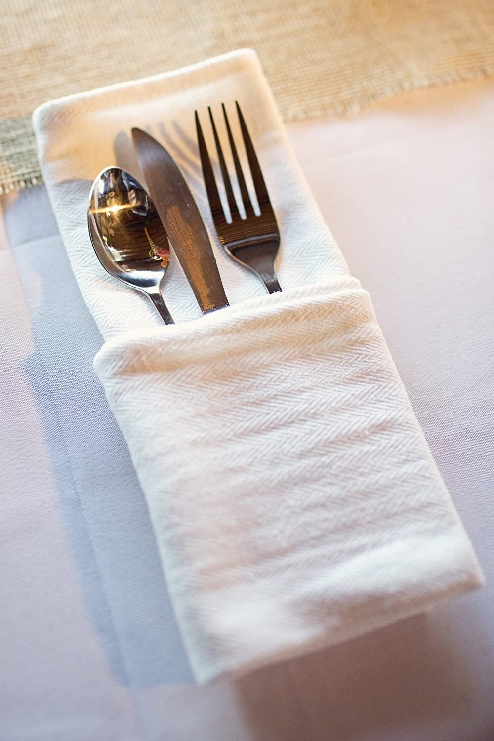 Keeble Outlets One Dozen (12) Kitchen Dish Towels - White - High ...