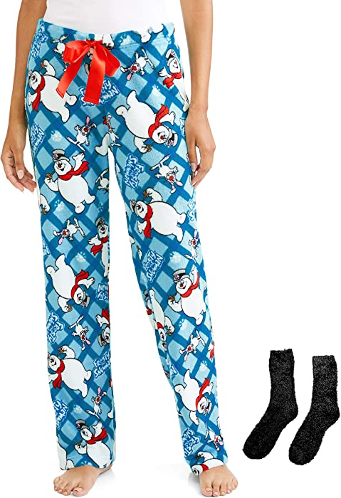 Frosty the Snowman Plush Minky Fleece Sleep Pants (Medium) at Amazon ... 3ac5c610d