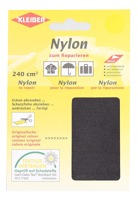 Kleiber - Parches de reparación de nailon, impermeables, autoadhesivos, color negro 430-39