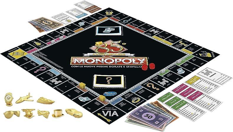 Monopoly – 85° Aniversario (Juego en Caja Hasbro Gaming, versión en Italiano): Amazon.es: Juguetes y juegos