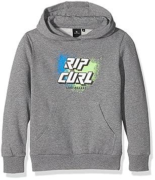 RIP CURL Slant Logo Sudadera para niño Beton Gris Beton Marle Talla:8 años (Talla del Fabricante: 8): Amazon.es: Deportes y aire libre