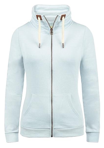 best website 1f496 1e9db DESIRES Vicky Zipper Damen Sweatjacke Jacke Sweatshirtjacke Mit Stehkragen