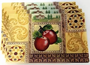 Apples Placemats, Set of 4