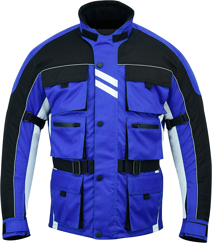 Motorcycle Jacket 6 Pockets Mens Riding Warrior Textile Racing Motorbike Hi-Vis Biker CE Armored Waterproof Jackets