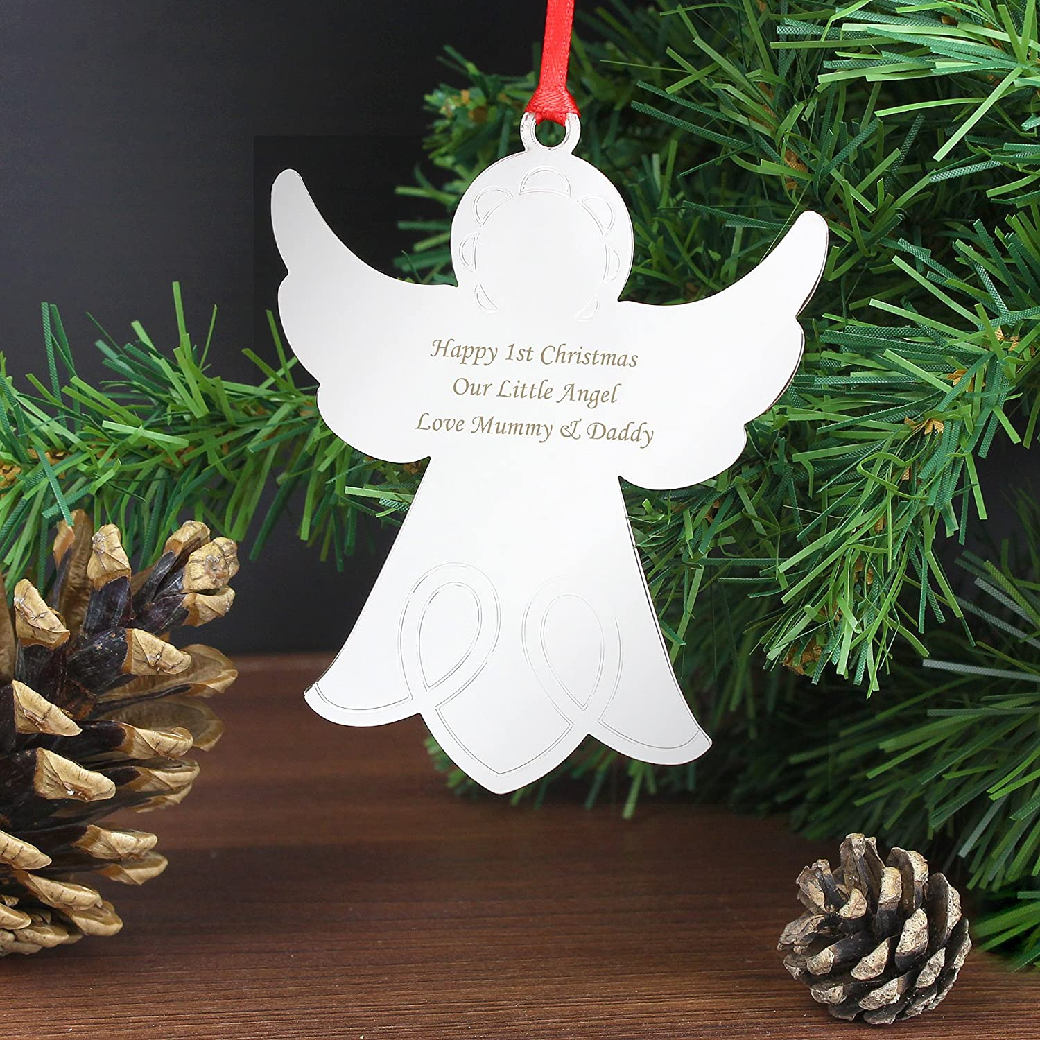 Incroyable Personalised Christmas Decorations   Angel: Amazon.co.uk: Kitchen U0026 Home