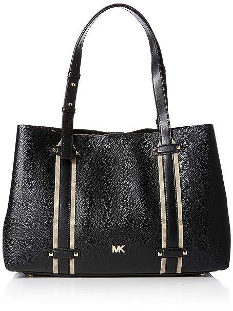 7384a1c1b1d6 Michael Kors Womens Griffin Tote Black (BLACK): Amazon.co.uk: Shoes ...