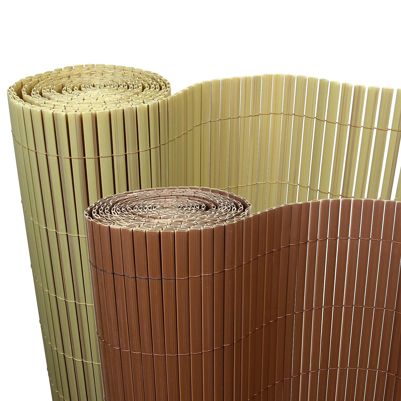 Amazon 5€ m² PVC Bambus Sichtschutzmatte 90cm x 500cm